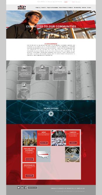 DCP Midstream, LP Website Screenshot
