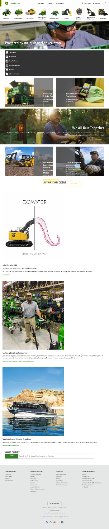 Deere & Company Website Screenshot