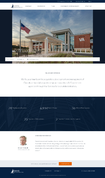 Easterly Government Properties, Inc. Website Screenshot