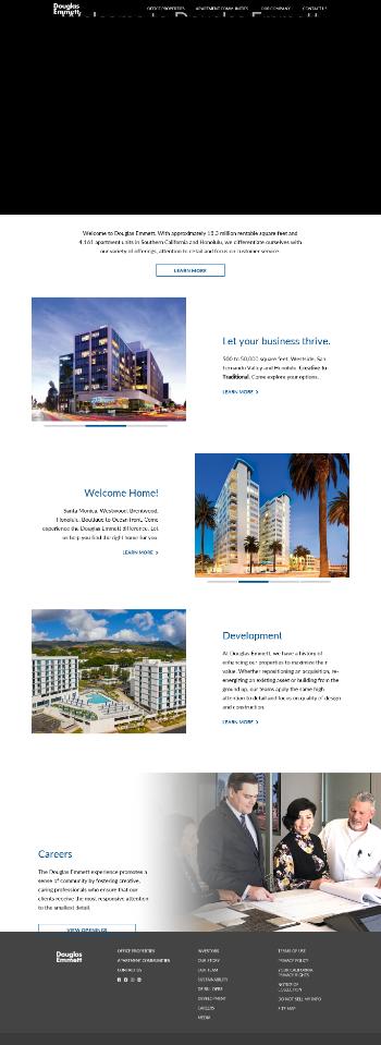 Douglas Emmett, Inc. Website Screenshot