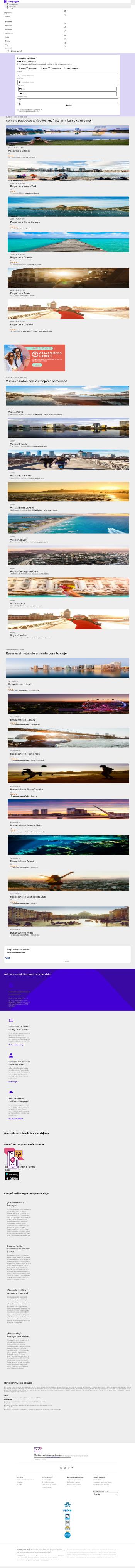 Despegar.com, Corp. Website Screenshot
