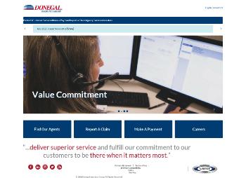 Donegal Group Inc. Website Screenshot