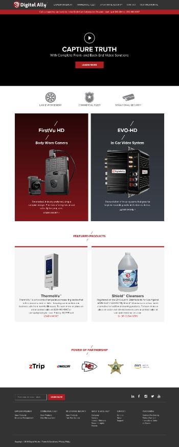 Digital Ally, Inc. Website Screenshot