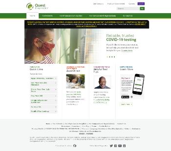 Quest Diagnostics Incorporated Website Screenshot
