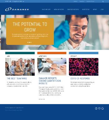 Danaher Corporation Website Screenshot