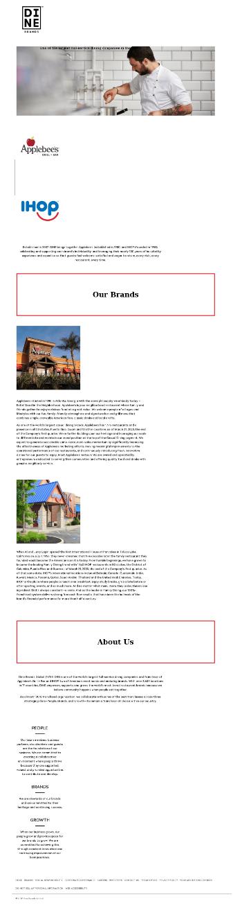 Dine Brands Global, Inc. Website Screenshot