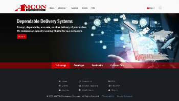 AMCON Distributing Company Website Screenshot