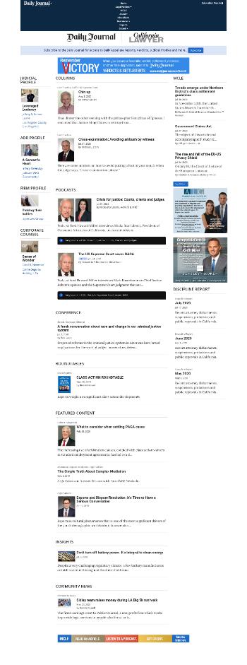 Daily Journal Corporation Website Screenshot
