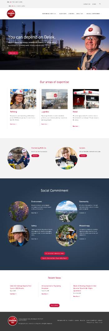 Delek US Holdings, Inc. Website Screenshot