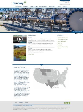 Denbury Resources Inc. Website Screenshot
