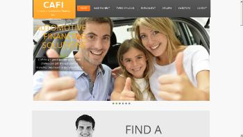 Consumer Automotive Finance, Inc. Website Screenshot