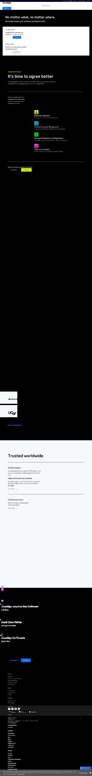 DocuSign, Inc. Website Screenshot