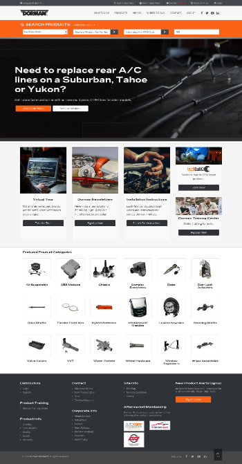 Dorman Products, Inc. Website Screenshot