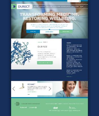 DURECT Corporation Website Screenshot