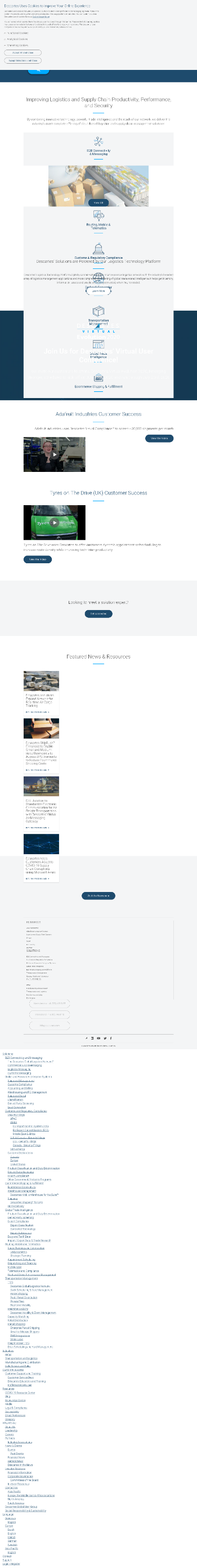 The Descartes Systems Group Inc Website Screenshot