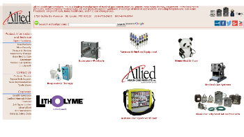 Allied Healthcare Products, Inc. Website Screenshot