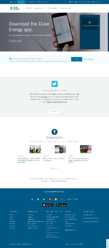 Duke Energy Corporation Website Screenshot