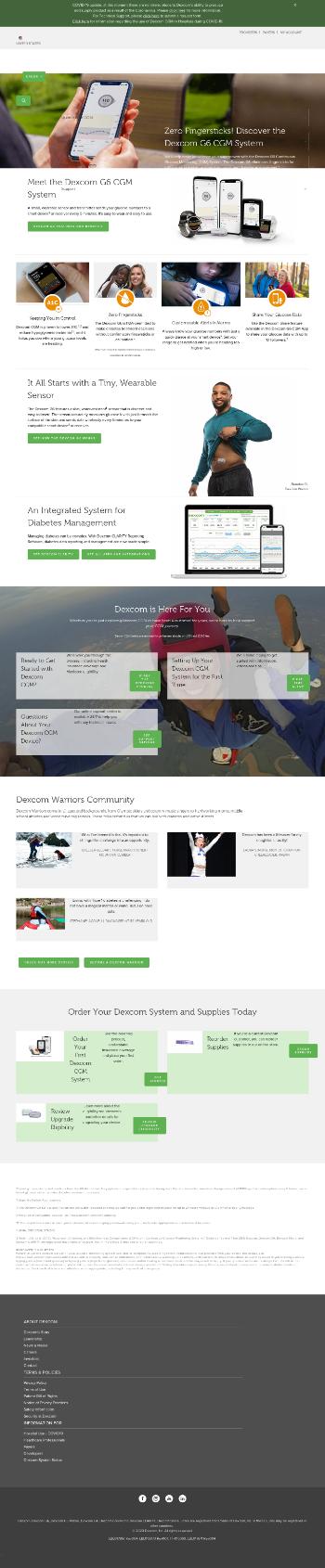 DexCom, Inc. Website Screenshot