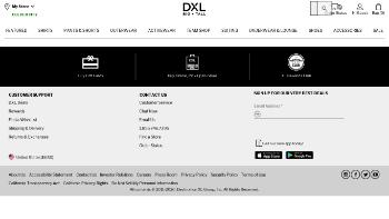 Destination XL Group, Inc. Website Screenshot