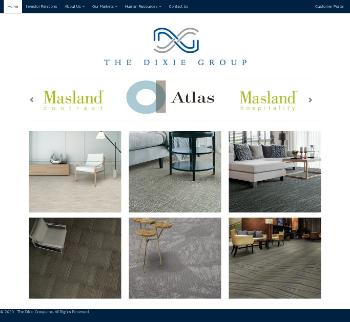 The Dixie Group, Inc. Website Screenshot