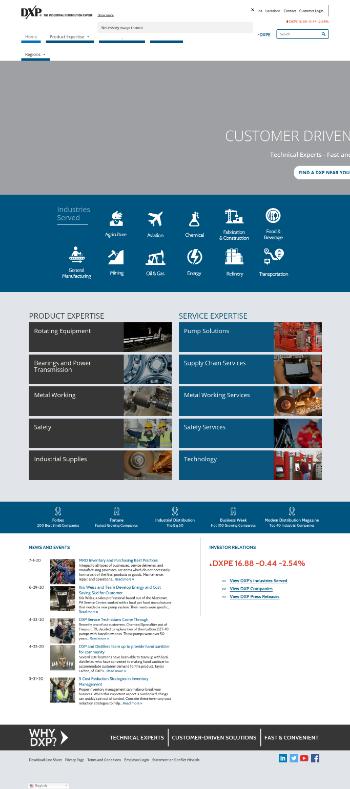 DXP Enterprises, Inc. Website Screenshot