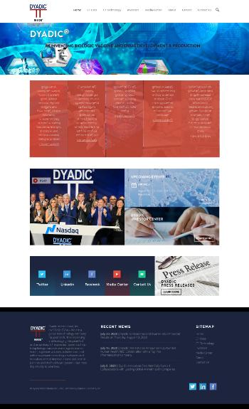 Dyadic International, Inc. Website Screenshot