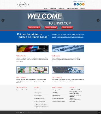 Ennis, Inc. Website Screenshot