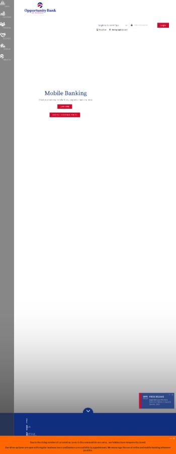 Eagle Bancorp Montana, Inc. Website Screenshot