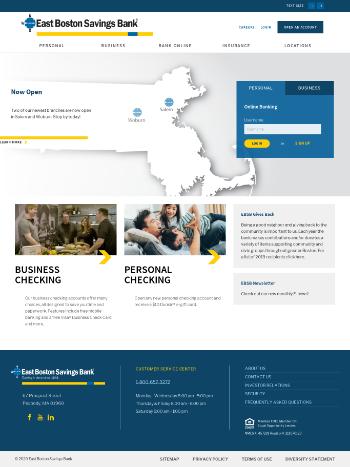 Meridian Bancorp, Inc. Website Screenshot