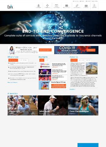Ebix, Inc. Website Screenshot