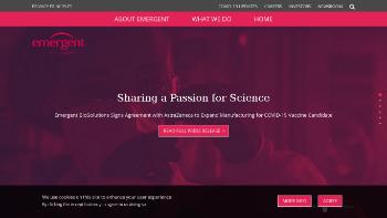 Emergent BioSolutions Inc. Website Screenshot