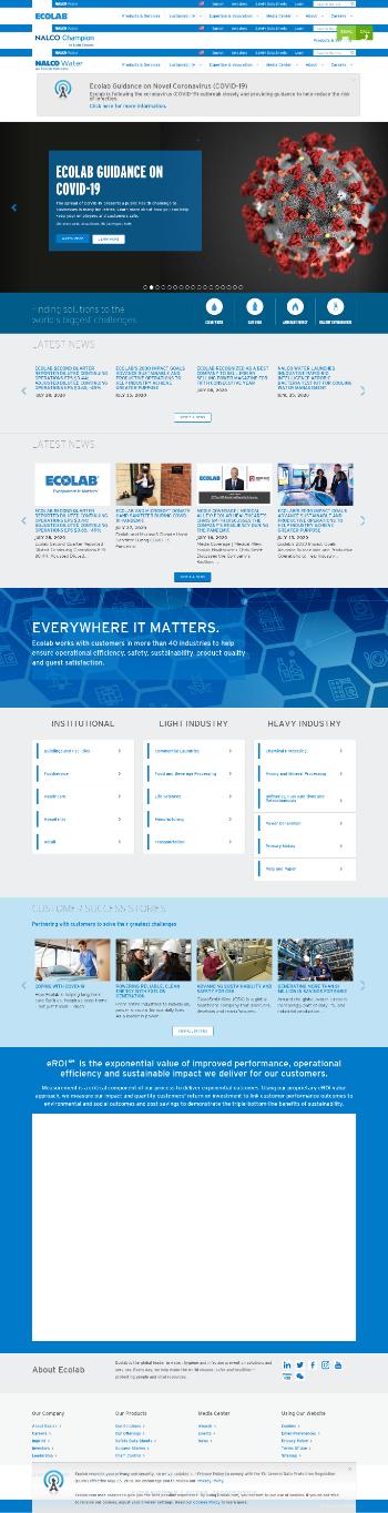 Ecolab Inc. Website Screenshot