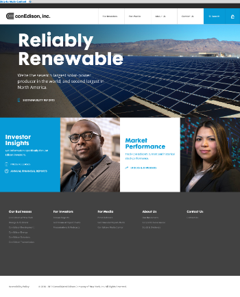 Consolidated Edison, Inc. Website Screenshot