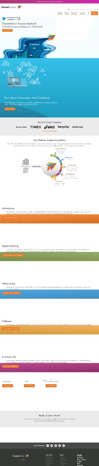 ChannelAdvisor Corporation Website Screenshot