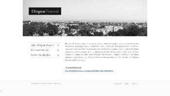 Ellington Financial Inc. Website Screenshot