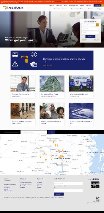 Eagle Bancorp, Inc. Website Screenshot