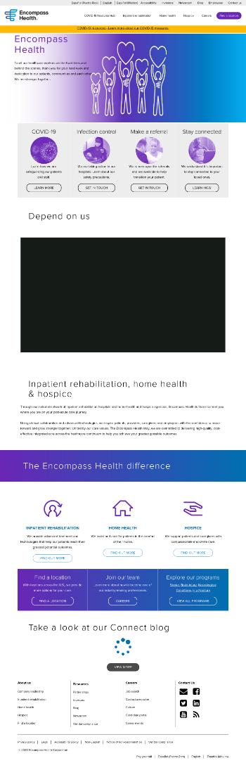 Encompass Health Corporation Website Screenshot