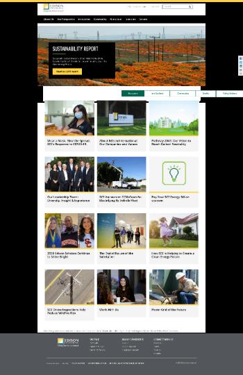 Edison International Website Screenshot