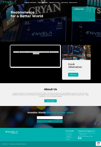 Envela Corporation Website Screenshot