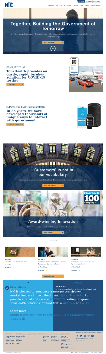 NIC Inc. Website Screenshot