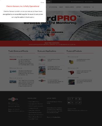 Electro-Sensors, Inc. Website Screenshot