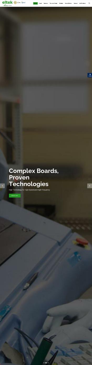 Eltek Ltd. Website Screenshot
