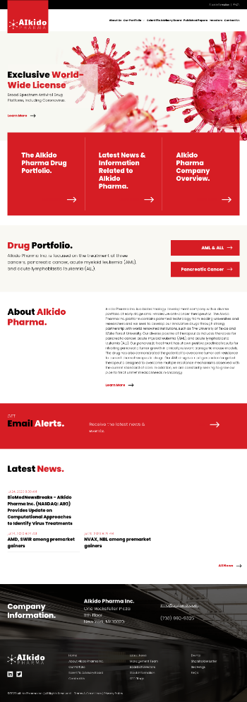 AIkido Pharma Inc. Website Screenshot
