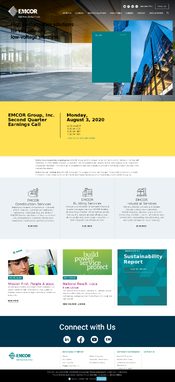 EMCOR Group, Inc. Website Screenshot