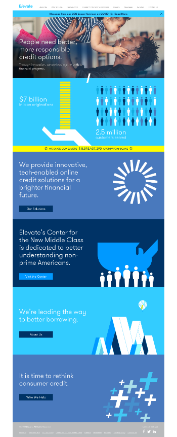 Elevate Credit, Inc. Website Screenshot