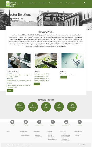 Emclaire Financial Corp Website Screenshot