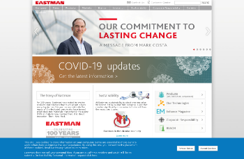Eastman Chemical Company Website Screenshot