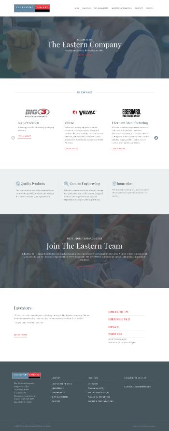The Eastern Company Website Screenshot