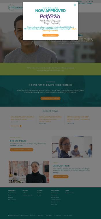 Aimmune Therapeutics, Inc. Website Screenshot