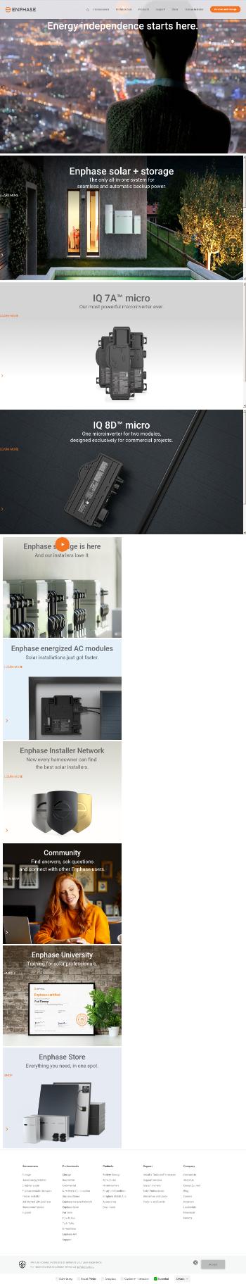 Enphase Energy, Inc. Website Screenshot